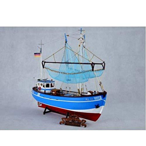 Chem Modelo de velero Modelo del Barco de Pesca Modelo Kit El Norte de Europa Barco rastreador Modelo de Madera