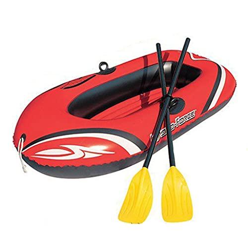 ZXQZ Kayak Kayak Inflable, Barco de Pesca de Turismo Plegable, Balsa de Canoa Engrosada Portátil de 3 Personas, Bote de Aerodeslizador de Estabilidad de Seguridad