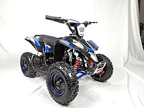 Mini quad ELECTRICO con motor brushless de 800W y bateria de 36V 12AH -EATV20 ECO-PANTERA. / Mini quad para niños de 5 a 12 años/miniquad infantil (AZUL)