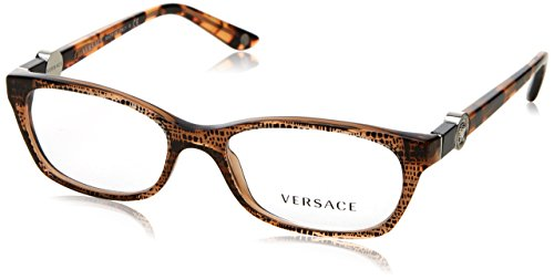 Versace Damen 0Ve3164 Brillengestell, Braun (Lizard Brown 991), 53 EU