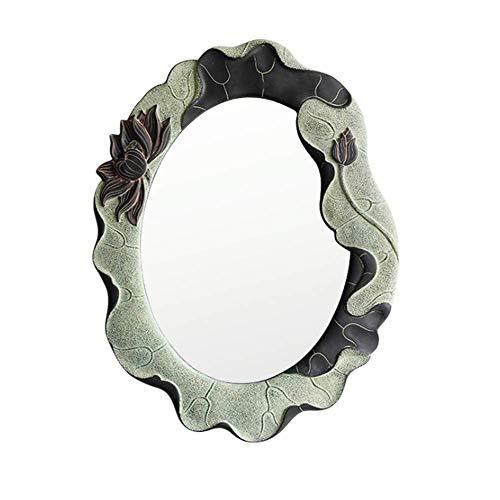 ZHYLOVE Retro Maquillaje Vestido Espejo Cuarto de baño Cuarto de baño Espejo Decorativo Muro Arte Baño Personalidad Dormitorio