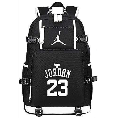 Liuying Mochila Michael Jordan 23 para Niños para Niñas para Ordenador