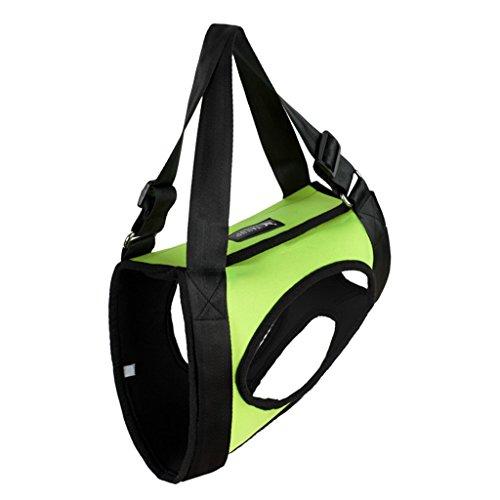 MagiDeal Hunde Tragehilfe/Gehhilfe/Rehahilfe vorne für Klein Haustier - Grün, S