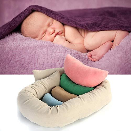 Camidy Juego de Almohadas para Accesorios de Fotografía para Recién Nacidos Bolsa de Frijoles con Soporte de Almohada para Bebé