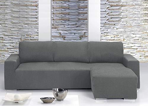 Il Dolce Stile della tua Casa® - Copridivano universale con penisola per divani con penisola a destra o sinistra (Panna, Penisola a Destra)