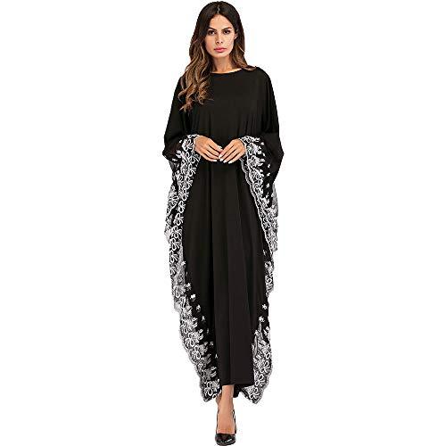 XIANGHUi Muslimische Kleider Damen Langärmeliges Roben Damen Abendkleider,Dubai Arabischer Kaftans