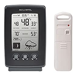 AcuRite Digital Weather Forecaster with Indoor/Outdoor Temperature, Humidity, and Moon Phase (00829)