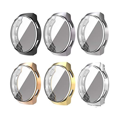 Romacci TPU Smart Watch Case Capa para relógio de proteção à prova de choque Capa para smartwatch à prova de arranhões com protetor de tela compatível com HUAWEI WATCH GT 2e