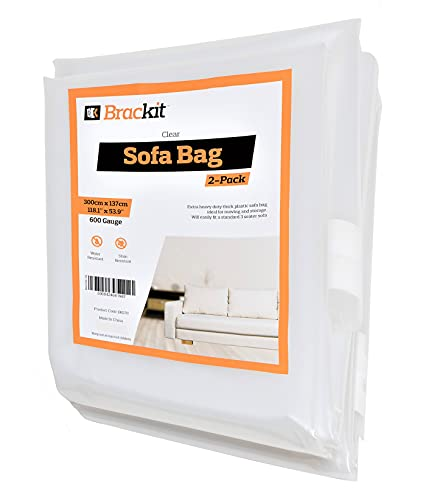 Sofa Protector Bag Cover - 600g for up to a 3-Seater Sofa - 300cm x 137cm - 2 Pack