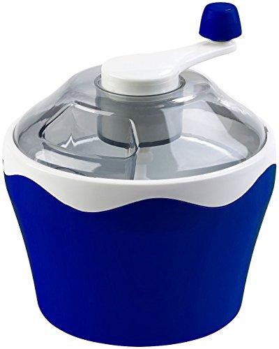 Rosenstein & Söhne Eismaschine ohne Strom: Manueller Speiseeis-Bereiter mit Handkurbel, 500-ml-Kühlbehälter (Speiseeisbereiter)