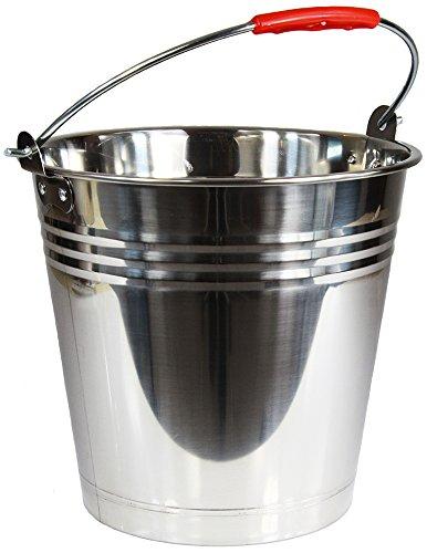 Wamat Edelstahleimer Eimer Edelstahl Kohleneimer Kücheneimer Lebensmittel 6 Größen (10 Liter)