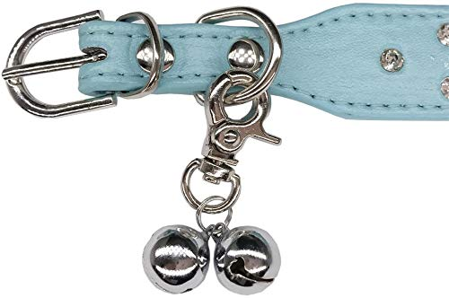 UNIGLOW PETS. Pet Charms. Pet Jewelry. Cat and Dog Collars, Pendants, Necklaces. Puppy Collar Accessories. Nickel-Plated Hardware Bells. Bone Shaped PET Tags. Pet Collar. (Blue, Crown Collar)