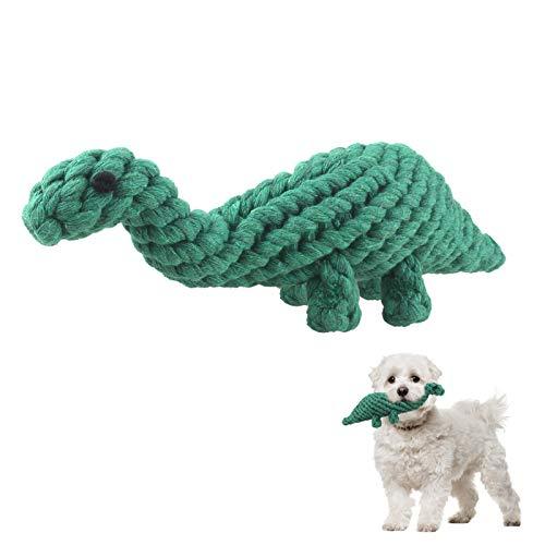 Juguetes para Perros Juguetes para Masticar para Cachorros Juguetes de Cuerda para Perro Juguetes para Perros pequeños diseño de Dinosaurio Juguetes de Cuerda de algodón Lavable para Perros