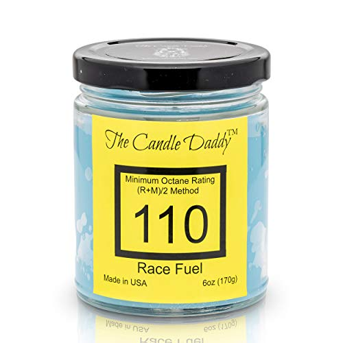 Race Fuel High Octane Gasoline Candle- 6 oz- up to 40 Hour Burn- Hand Poured in Indiana