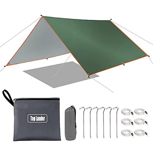 Große, ultraleichte Hängematte, Regenschutz, wasserdicht, Camping-Plane, multifunktionales Zelt, Fußabdruck für Bushcraft Picknick, Rucksackreisen, Outdoor Survival...
