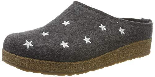 Haflinger Damen Grizzly Stelline Pantoffeln, Grau (Anthrazit 4), 40 EU