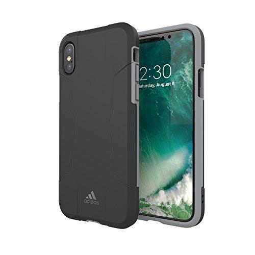 Adidas Solo Cover Hard-Hülle Tasche Schutz-Hülle Schale kompatibel mit Apple iPhone X / Xs,Schwarz/Grau