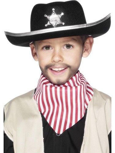 Smiffys Sheriff-Hut mit Abzeichen, One Size