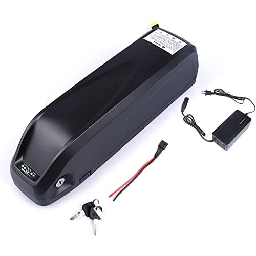 CCFCF Li-OIN Battery with USB, 36V/48V/52V Electric Bike Downtube Battery with Charger for 800W 1000W Motor,48V16AH
