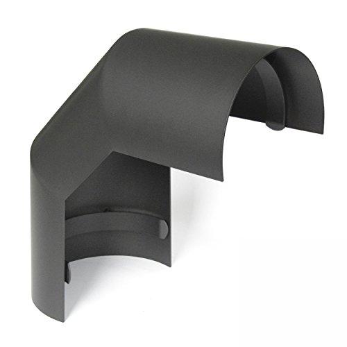 raik SH095-150-gg Rauchrohrbogen/Ofenrohr 150mm - Thermoschild 90° gussgrau