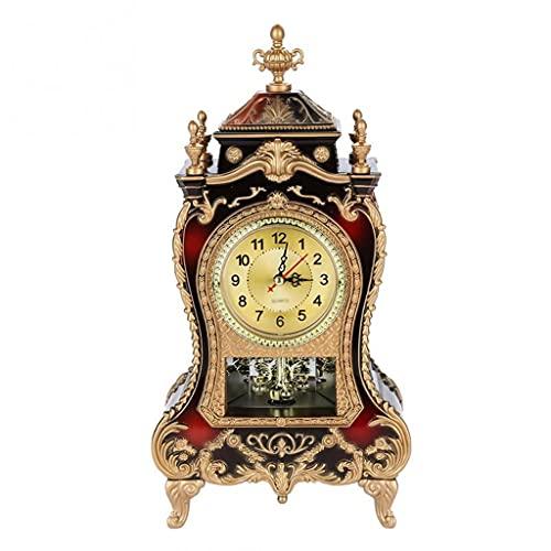 Aiglen Escritorio Reloj Despertador Vintage Reloj clásico Royaltiño Sala de Sentado TV Cabinete Escritorio Mobiliario Imperial Creativo Sit Péndulo Reloj (Color : B)