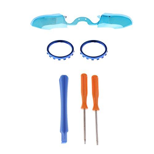 Hsthe Sea Ersatzkits 1 Paar Schalterknöpfe + 1 Stück Akzentringe + Blue Tip Tool + T6 & T8 Schraubendreher Für Xbox One - Blau