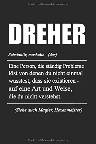Dreher Definition: Dreher & Fräser Notizbuch 6\'x9\' Liniert Geschenk für Fräsmaschinen & Handwerker