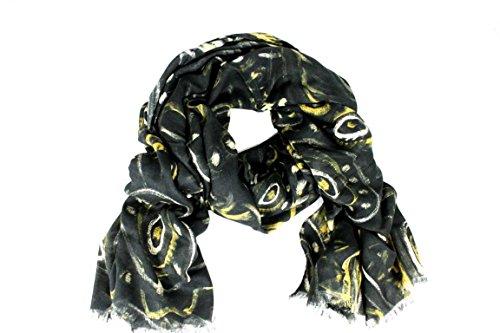 Versace dames sjaal Scarf geschenkdoos Made in Italy BO805 zwart