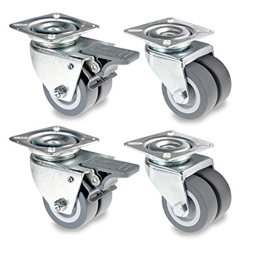 75 mm rollo de transporte rollo de 50 mm 100 mm PRIOstahl Juego de ruedas para aparatos con orificio en la espalda y tornillo M10