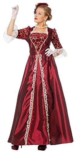 narrenkiste W4084A-38 Wein-rot Damen Marquisen Kleid Rokoko Kostüm Gr.38