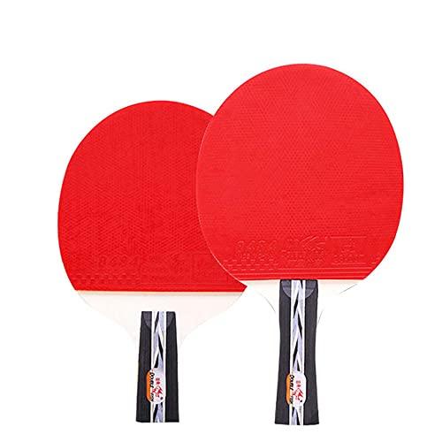 LINGOSHUN Raquetas de Tenis de Mesa,Entrenamiento Amateur,Juego de Raquetas de Ping Pong Recreativo para 2 Jugadores/Double/C