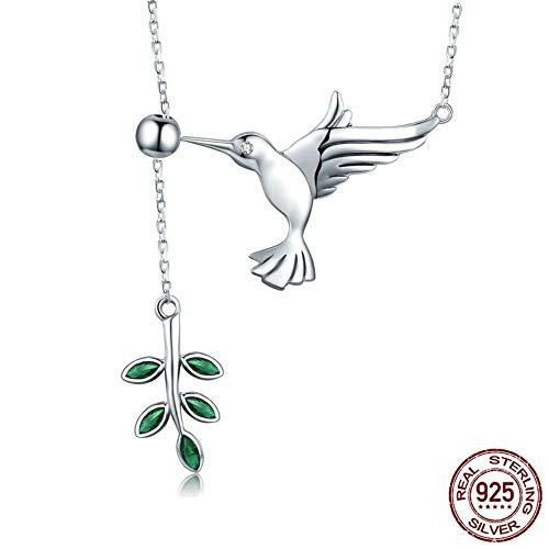 THTHT Sterling Zilveren Ketting Vrouwen Vliegende Vogel Eten Bladeren Eenvoudige Stijl Mode Idee Temperament Elegante Fijne High-End Sieraden