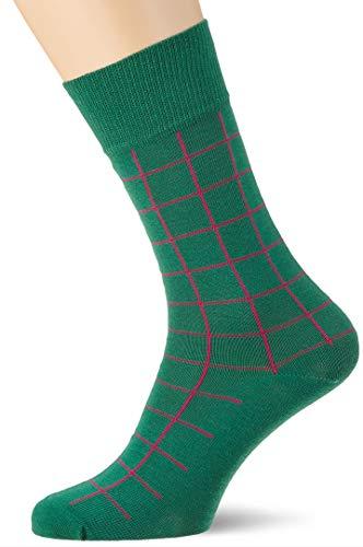 Gant Men's D1. Contrast Check Socks Calf (Ivy Green 373), One (Size: Oversize)