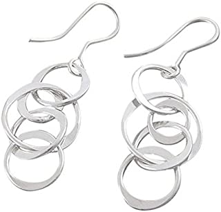 23f49e772 Handmade Planet Silver Long Drop Earrings with Free Gift Packaging by Otis  Jaxon