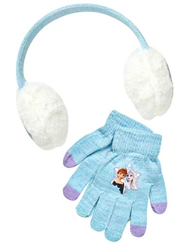 Disney Girls Frozen Elsa amp Anna and Minnie Mouse Earmuff and Gloves Set Age 47