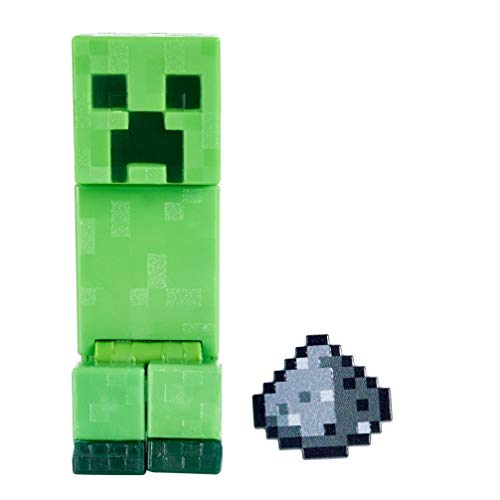 Minecraft GTT45 - Craft-A-Block, Creeper, Figur aus dem Sortiment, authentischer Charakter aus dem Videospiel, Geschenk zum Sammeln für Minecraft Fans ab 6 Jahren