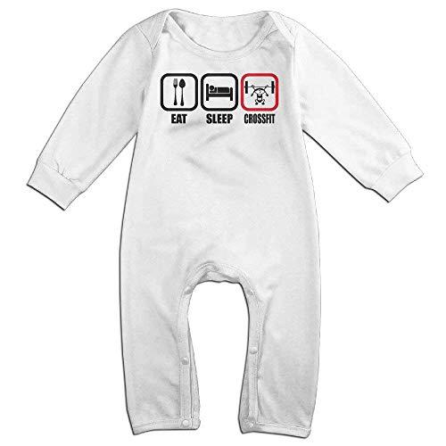 SDGSS Combinaison Bébé Eat Sleep Crossfit Intense Baby Bodysuit Bodysuit Romper Jumpsuit