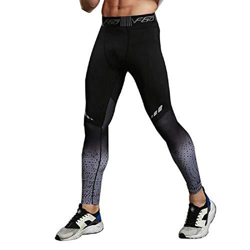 Ducomi Leggings Uomo Running e Allenamento - Leggins Lunghi a Compressione Fitness per Ragazzo - Tight Pantalone Sportivo Traspirante e Leggero per Corsa, Sport E Palestra (Grey, EU XL)