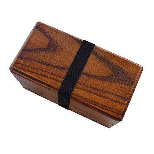 Sushi Bento Boîtes Rectangulaire Double-Couche Nourriture Lunchbox Récipient en Bois Naturel Réutilisable Portable Pique-Nique Boîte De Stockage Collation