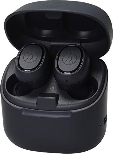 Audio-Technica ATH-CK3TWBK Wireless in-Ear Headphones, Black, Bluetooth 5.0, Water-Resistant, 6 hr Battery