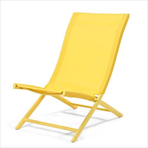 Chaise longue Pliable Portable Chaise Simple Bureau Chaise Pliante Chaise Lounger Chaise de Plage Ménage Balcon Loisirs Chaise de Déjeuner Enregistrer l'espace (Couleur : B)