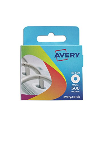Avery 43-509 Reinforcement Ring (13 mm Dia, 500 Labels) - White