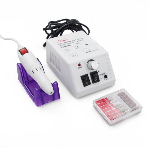 FLY-Shop - ZS-210 Nouvelle Mode Modèle Ponceuse Manicure Ongle Professional électrique Nail Système de Classement, Electric Nail Drill 10W UE (Rose Et Blanc) (Blanc)