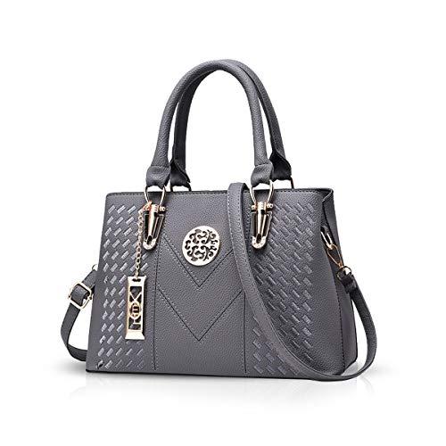 NICOLE & DORIS Damenhandtaschen Handtaschen Topgriffe Schultertasche Umhängetaschen Klassische Handtaschen von Frauen Grau