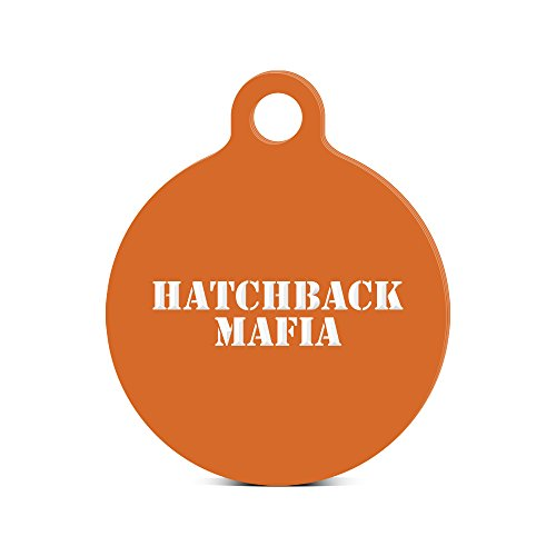 fagraphix Hatchback Mafia Round Keychain with Tab Engraved JDM ef eg ek Orange