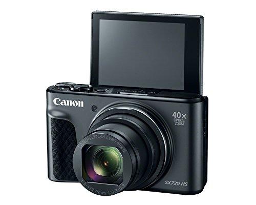 Canon PowerShot SX730 Digital Camera w/40x Optical Zoom & 3 Inch Tilt LCD - Wi-Fi, NFC, & Bluetooth Enabled (Black)