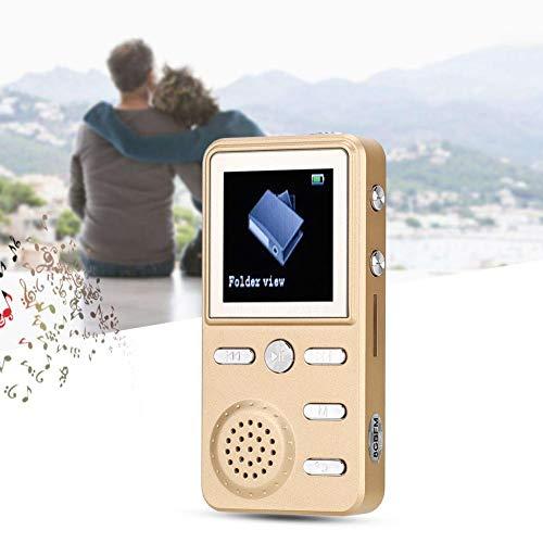 MP3-speler, 1,41-inch LCD-scherm Draagbare MP3-speler, verliesvrij hifi-geluid, muziekvideospeler, ondersteuning voor wekker / alarmfunctie, inclusief muziekhoofdtelefoon (16 GB)