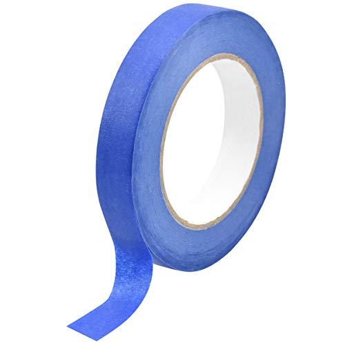 Malerkrepp 20mm*50m Blau Maler Klebeband Premium Malerkrepp Handwerk Kunst Einfache Entfernung Malerarbeiten Dekorieren Malerkreppband für Streichen & Lackieren