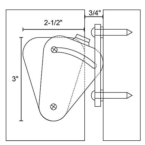 Product Image 7: WINSOON Barn Door Lock Hardware Black Steel Sliding Privacy Latch for Closet Shed Pocket Doors Wood Gates – Black