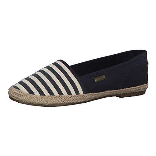 TOM TAILOR für Frauen Schuhe Gestreifte Slipper Navy, 40